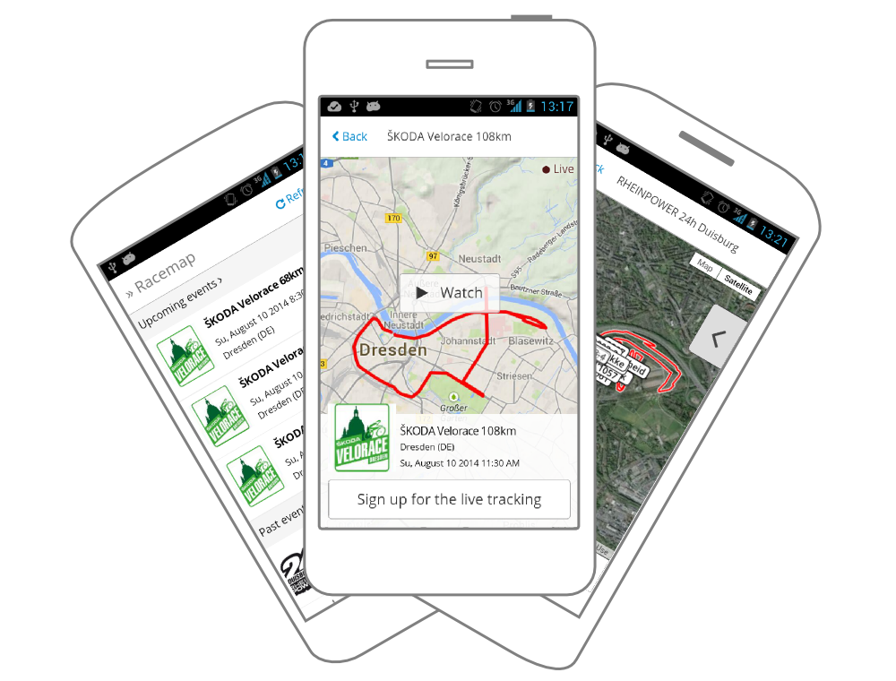 Racemap App for Android and iOS